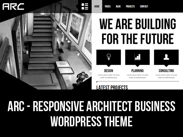 Arc - Responsive Architect Business Wordpress Theme WordPress template for business