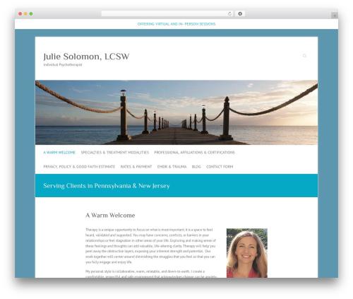 Attitude free WordPress theme - wellnesswithjulie.com
