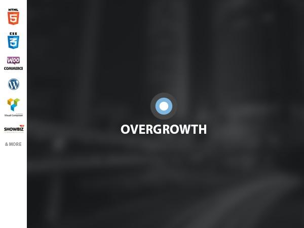 Best WordPress template Overgrowth