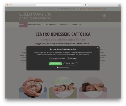Best WordPress theme Dream Spa - wellnesscattolica.com
