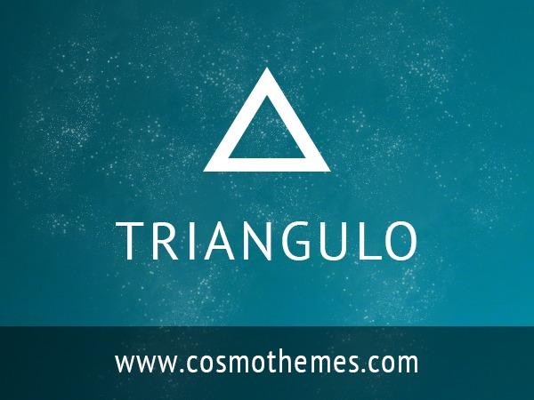 Best WordPress theme Triangulo