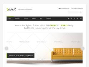 BigStart theme WordPress portfolio