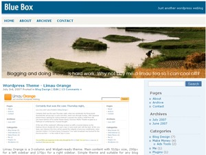 Blue Box WordPress theme