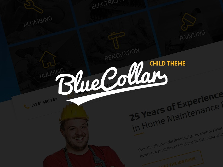 Blue Collar Child theme WordPress