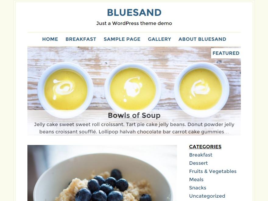 Bluesand WordPress blog theme