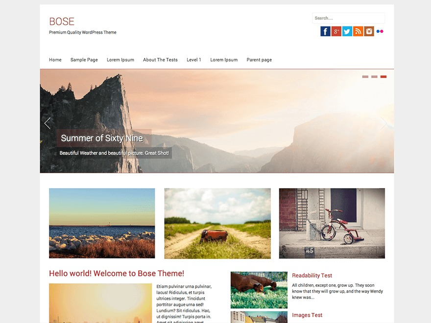 Bose best free WordPress theme