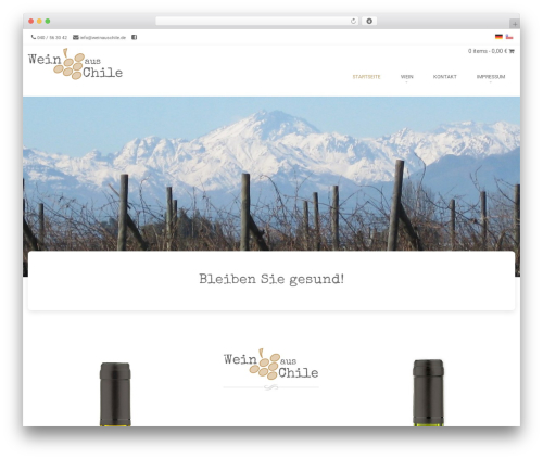 Brasserie WordPress website template - weinauschile.de