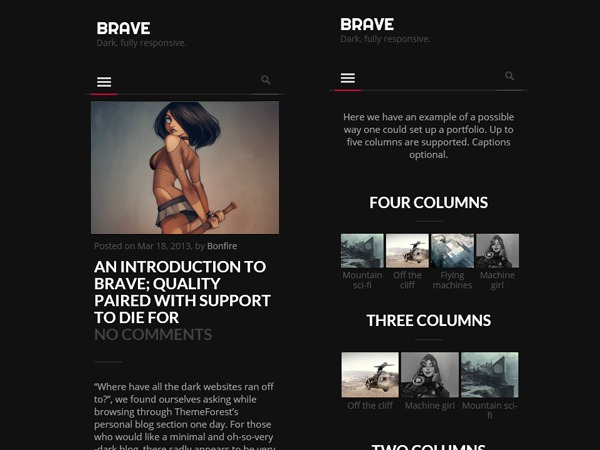 Brave business WordPress theme