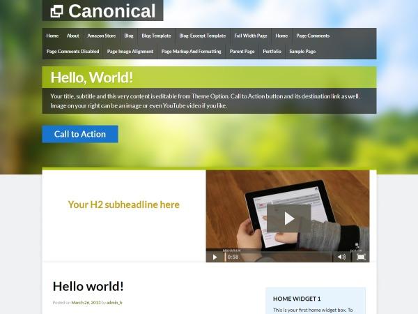 Canonical Child premium WordPress theme