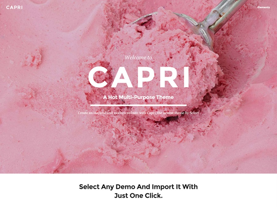 Capri theme WordPress