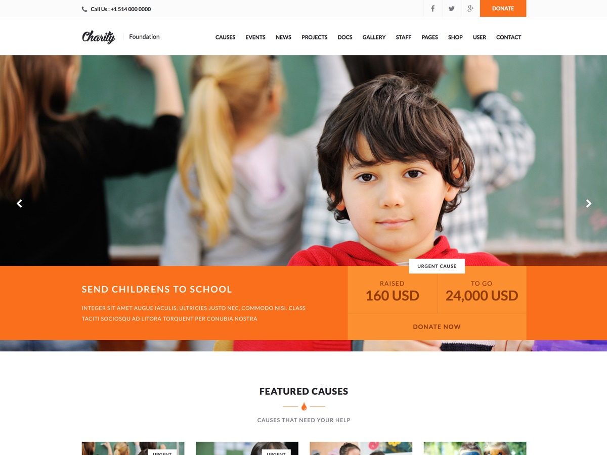 Charity WPL template WordPress