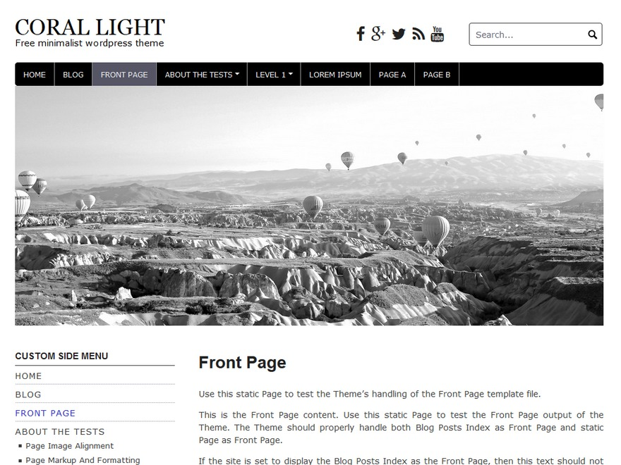 Coral Light best free WordPress theme