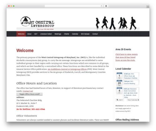 Coverage theme WordPress - westcentralaa.org