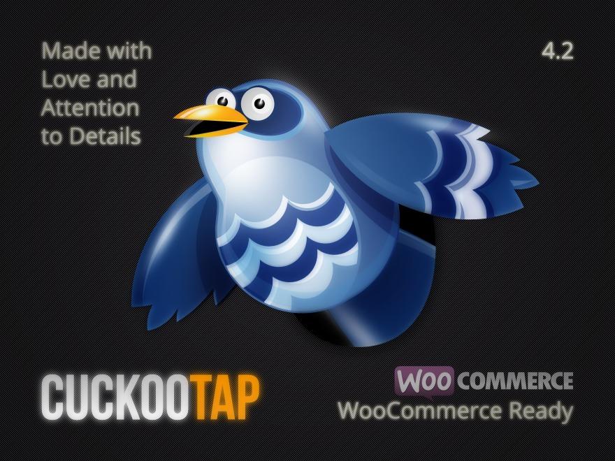 CuckooTap WordPress ecommerce template