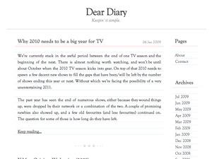 Dear Diary WordPress blog theme