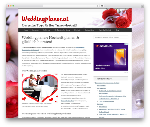 deFacto WordPress wedding theme - weddingplaner.at