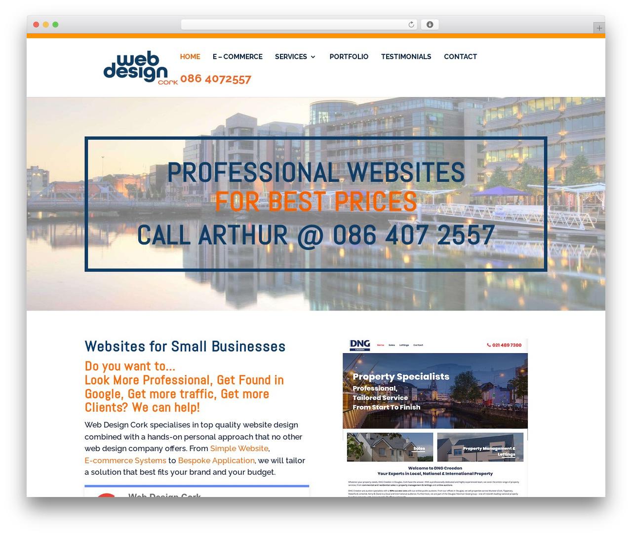 Divi business WordPress theme - webdesigncork.ie