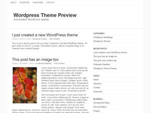 Empty Canvas WordPress blog theme