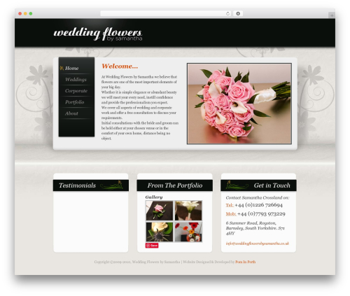 "Free WordPress Pinterest ""Pin It"" Button plugin - weddingflowersbysamantha.co.uk"