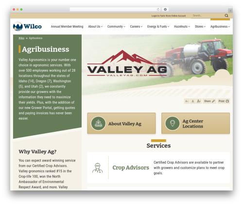 Flatsome business WordPress theme - wilco.coop/agribusiness