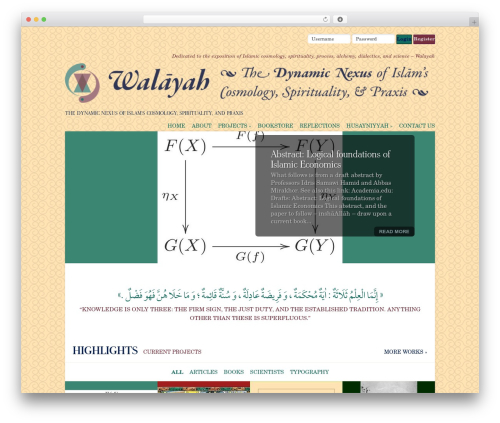 Flexible theme WordPress - walayah.org