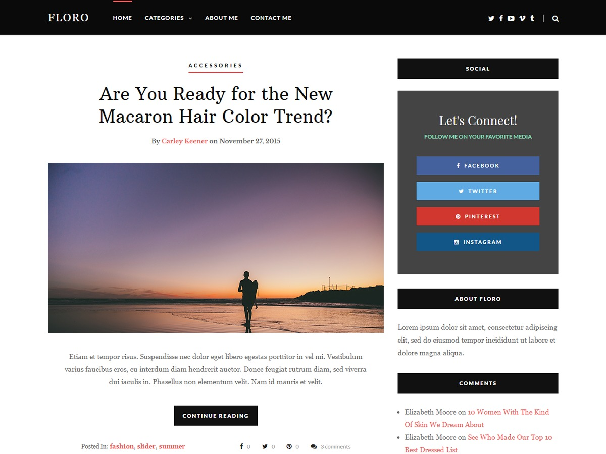 Floro template WordPress free