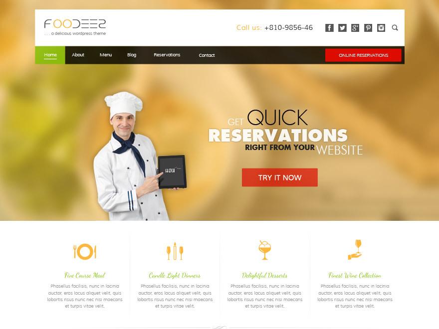 Foodeez business WordPress theme