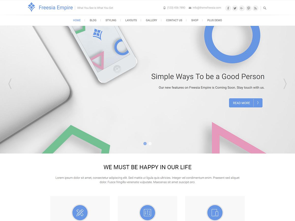 Freesia Empire WordPress theme download