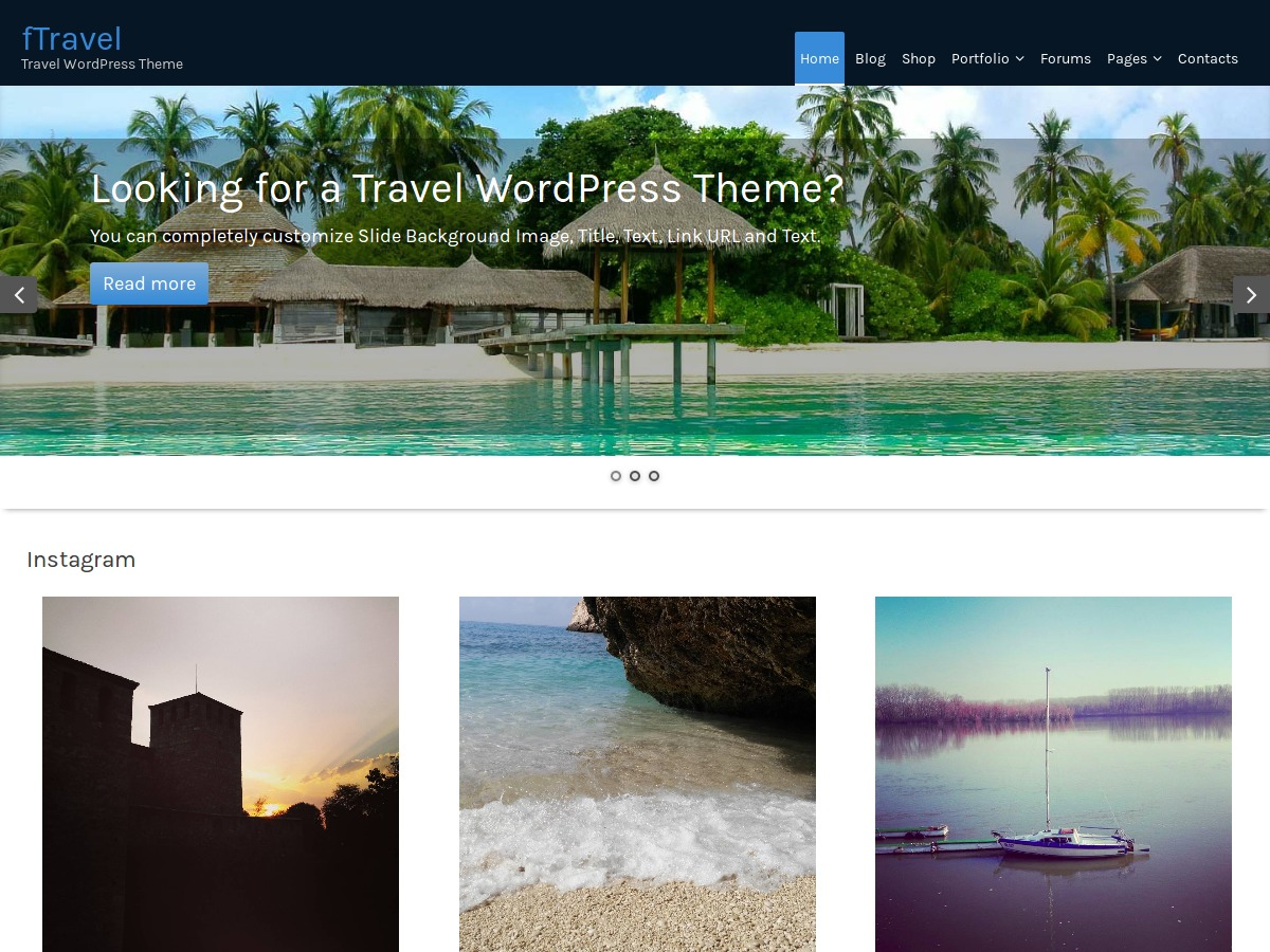 fTravel free WP theme