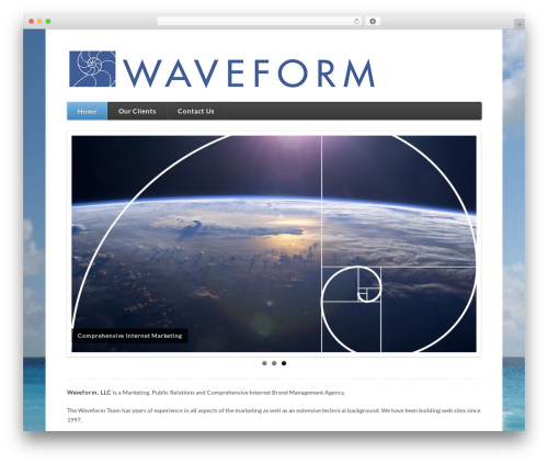 Function WordPress page template - waveform.us