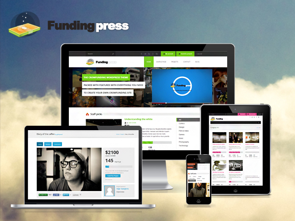 Fundingpress -  The Crowdfunding Wordpress theme WordPress page template