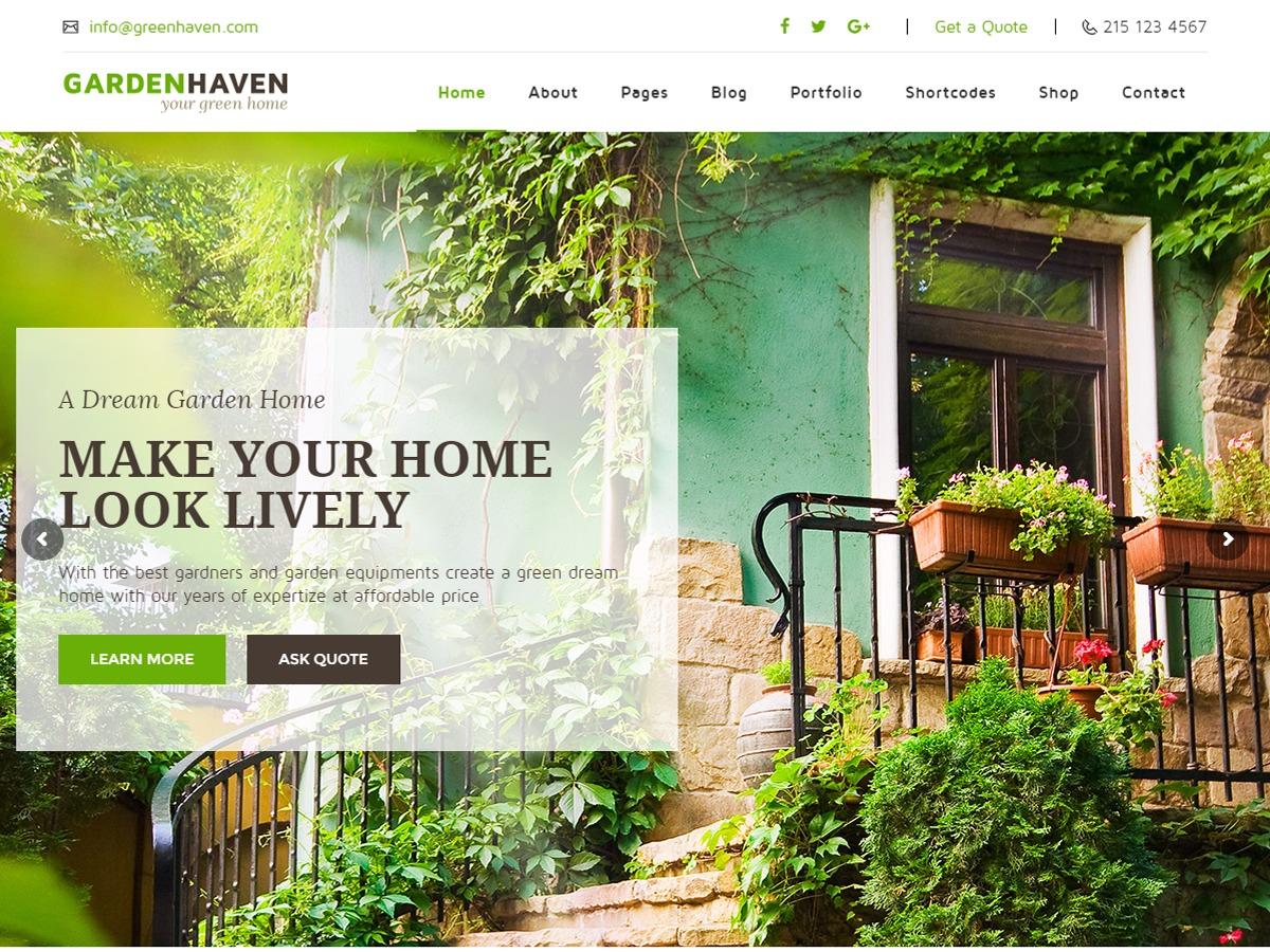 Gardening garden WordPress theme