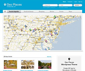Geo Places premium WordPress theme