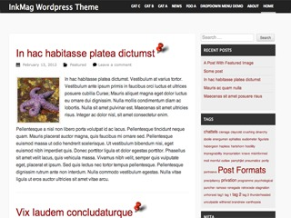 InkMag theme WordPress free