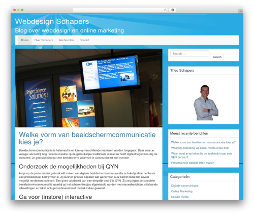 LineDay free website theme - webdesign-schapers.nl