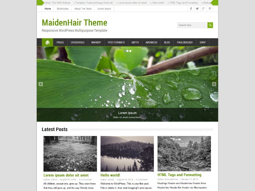 MaidenHair Premium WordPress store theme