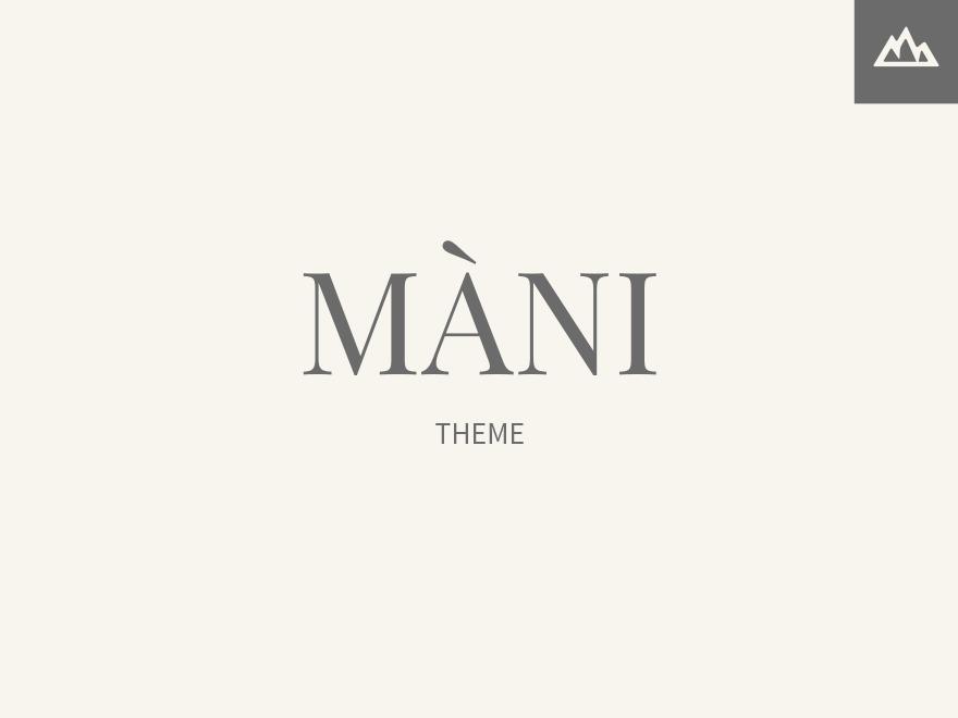 Mani WordPress blog template