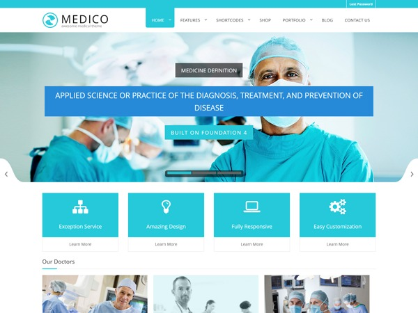 Medico WordPress website template
