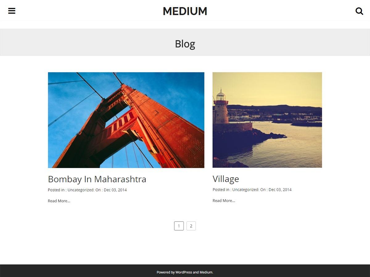 Medium template WordPress free