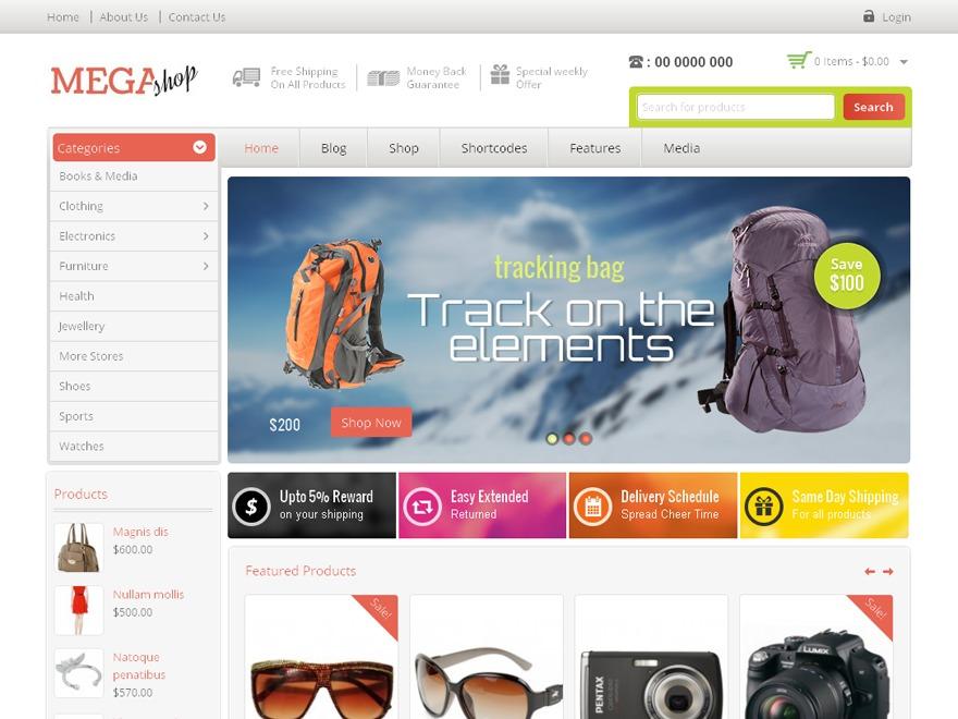 MegaShop WordPress magazine theme