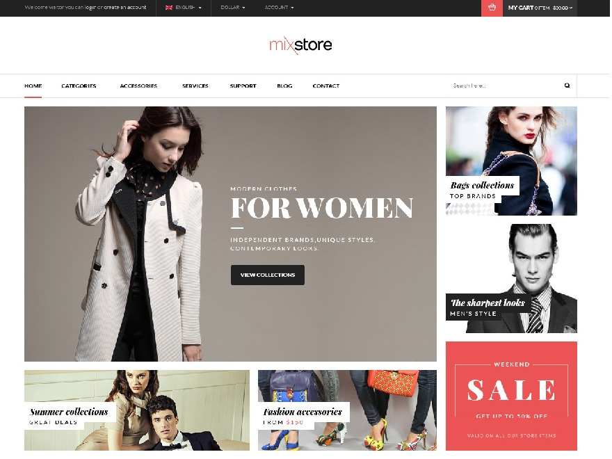 Mix Store best WooCommerce theme