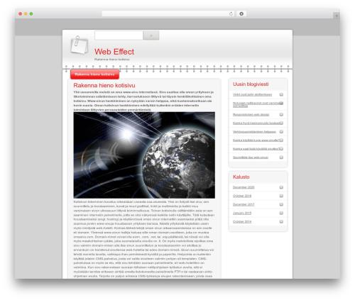 Modern Notepad WordPress template - web-effect.net
