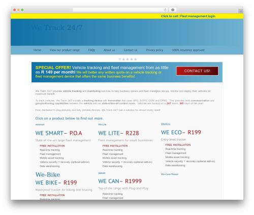 Modular template WordPress - wetrack247.com