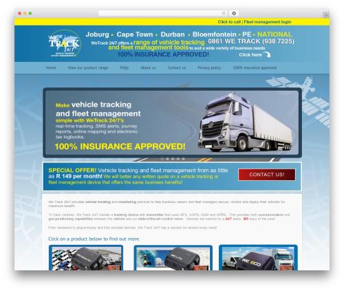 Modular WP theme - wetrack247.co.za