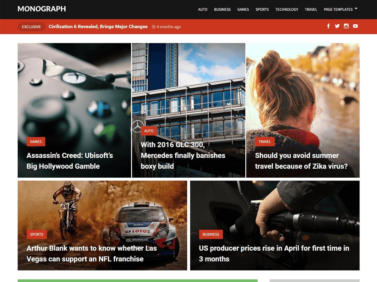 Monograph free WP theme
