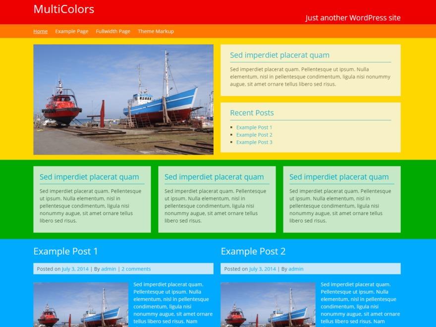 MultiColors best free WordPress theme