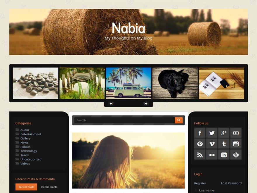 Nabia free WordPress theme