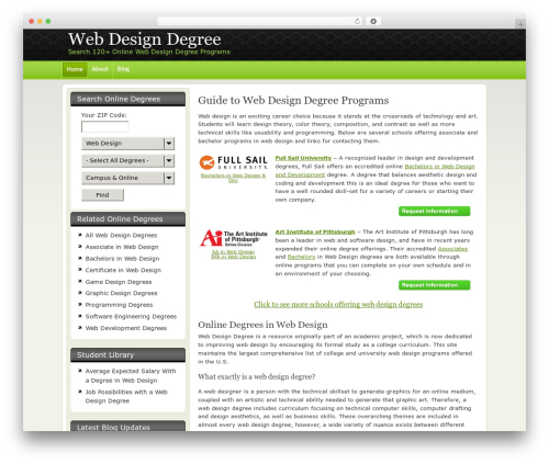 New Evolution WordPress theme - webdesigndegree.com