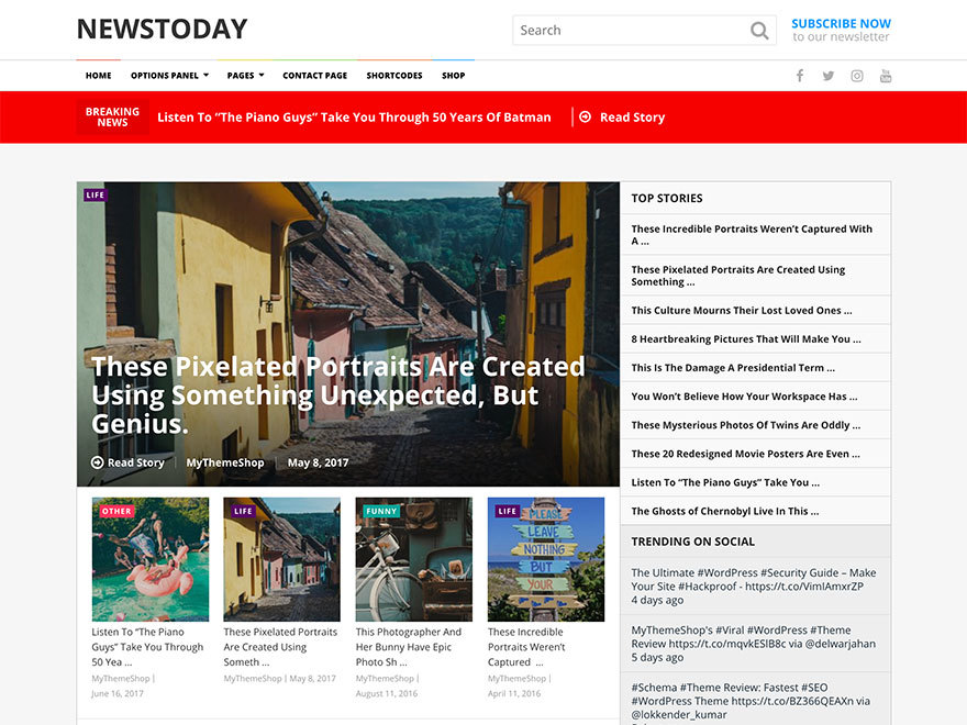 NewsToday by MyThemeShop WordPress shopping theme