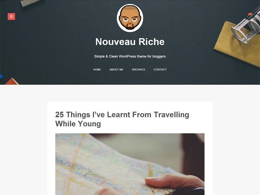 Nouveau Riche WordPress template free download